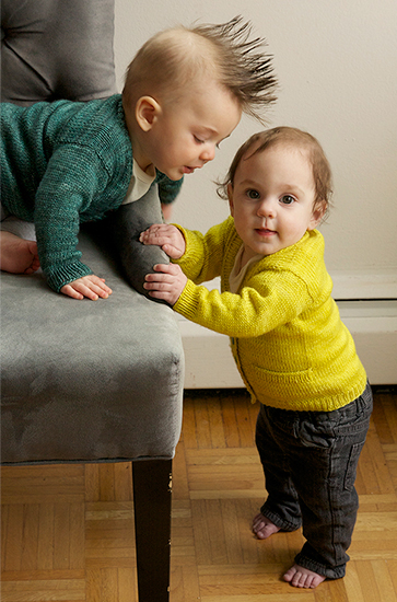 Max and Bodhi's Wardrobe - Playdate Cardigan.  Image Copyright Tin Can Knits.
