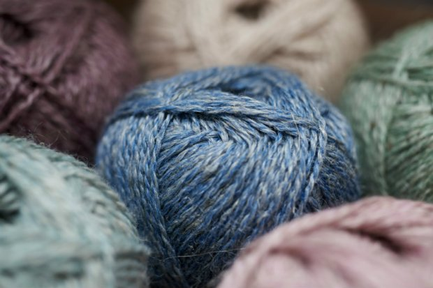 Blacker Lyonesse Yarn, shown in the colour way 'Lapis'.